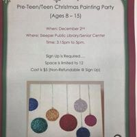 Pre-Teen/Teen Christmas Painting Party